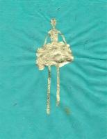 René  Romero Schuler |  Lizzy, 2019 |  18k gold leaf on hand-made Nepali lokta paper |  11 x 8.5 15 x 12.5 framed |  $475. | SOLD