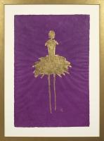 René  Romero Schuler |  Aspen, 2018 |  24kg on hand-made Nepali lokta paper |  30 x 20 38 x 28 framed |  $1,500. | SOLD