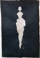 René  Romero Schuler |  Soja, 2019 |  SS on hand-made Nepali lokta paper |  30 x 20 38 x 28 framed |  $1,800.