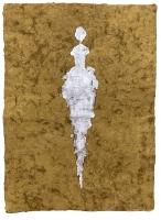 René  Romero Schuler |  Colby, 2019 |  24k gold leaf on handmade Mayan Huun paper |  23x16  unframed |  $1,300.