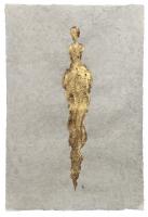 René  Romero Schuler |  Helen, 2019 |  24k gold leaf on handmade Nepali lokta paper |  30x20 unframed |  $1,300.