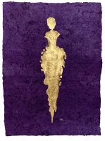 René  Romero Schuler  |  Kaiyu, 2019 |  24k gold leaf on handmade Mayan Huun paper |  23x16  unframed  |  $1,300.