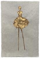 René  Romero Schuler |  Laura, 2019 |  24k gold leaf on handmade Nepali lokta paper |  30x20 unframed |  $1,300.