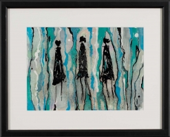 René  Romero Schuler |  Abilene |  India ink on arches paper |  9 x 12 14 x 17 f |  $900.