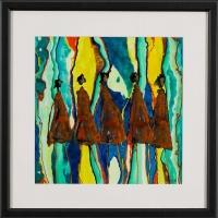 René Romero Schuler |  Acropolita |  India ink on arches paper |  11 x 11 16.25 x 16.25 f |  $900.