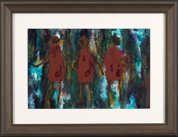 René  Romero Schuler |  Sequoia |  India ink on arches paper |  10 x 15 17 x 21.5 f |  $900.