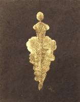 René  Romero Schuler |  Somba, 2019 |  24k gold leaf on hand-made Nepali lokta paper |  11 x 8.5 unframed |  $425.