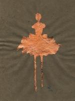 René Romero Schuler |  Temper, 2019 |  Genuine copper leaf on handmade Nepali lokta paper |  11x8.5 16.25 x 16.25 framed |  $475. | SOLD