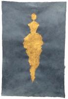 René  Romero Schuler |  Tika, 2019 |  24k gold leaf on handmade Nepali lokta paper |  30x20 38 x 28 framed |  $1,800.