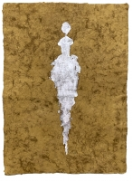 René  Romero Schuler |  Colby, 2019 |  Sterling Silver  on handmade Mayan Huun paper |  23x16  unframed |  $1,300.