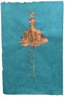 René  Romero Schuler |  Margheritte, 2019 |  24k gold leaf on handmade Nepali lokta paper |  30x20 unframed |  $1,300.