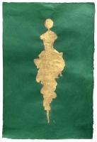 René Romero Schuler |  Pertia, 2019 |  24k gold leaf on handmade Nepali lokta paper |  30x20 38 x 28 framed |  $1,800.