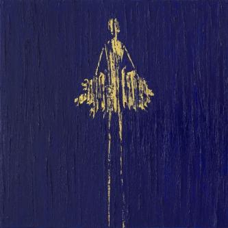 René  Romero Schuler     Lazuli, 2019     Oil + 24kg on canvas     30 x 30    $4,500. SOLD