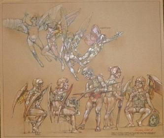 Robert A. Nelson  |  Pager Of Flyers, 2008 |  Pencil, colored pencil, aqua-media |  26 x 22 |  $1200.