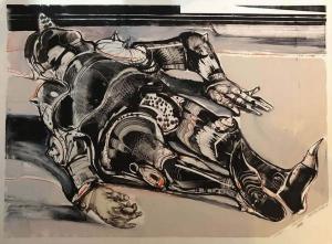 Robert A. Nelson  |  Knight, 1988 |  Monoprint |  28 x 36 | $2,400.