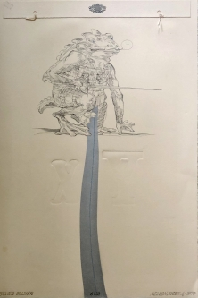 Robert A. Nelson |   Released from the Vault |  Silver Soldier, 1979 |  Collage: Etching, Embossment |  22 x 15 |  $1,500.