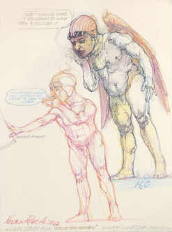 Robert A. Nelson |   Angel Study, 2002  Pencil, colored pencil |  11 x 8 |  $200.