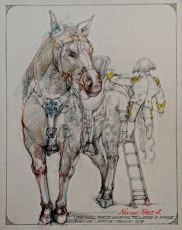 Robert A. Nelson  |  Very Small Officer, 2014 |  Pencil, colored pencil, aqua-media |  14 x 11 |  SOLD