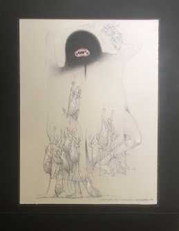 Robert A. Nelson |   Released from the Vault |  Vampire Under Attack, 1985|  Pencil |  26 x 20  |  $1,000. SOLD