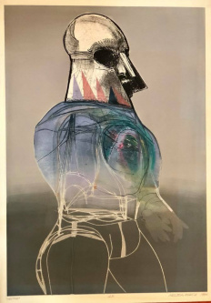 Robert A. Nelson  |  Hector, 1984 Release from the Vault |  Artist Proof |  38 x 28 | unframed |  SOLD