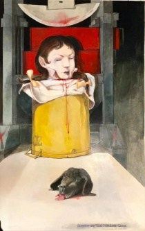 Robert A. Nelson |  Dorothy and Todo Displease Ozma |  Oil and Watercolor  |  41 x 26 | framed |  $3000. SOLD