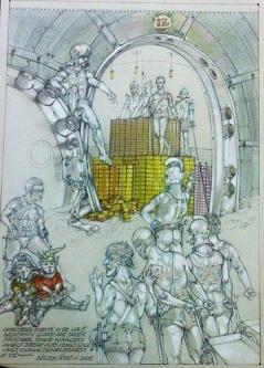 Robert A. Nelson  |  Munchkin Guards Are Taken Prisoner, 2005 |  Pencil, Color Pencil, Watermedia |  15 x 11 |  $800. SOLD