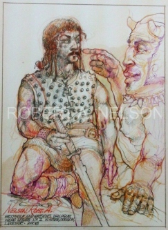 BEOWULF AND GRENDEL DIALOGUE, 2008 - SOLD