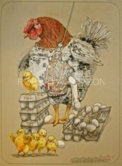 MON-SANTOO CHICKENS, 2013 - SOLD