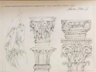 Robert A. Nelson  |  Visual Studies of Architectural Fragments, 2019 |  Pencil |  SOLD