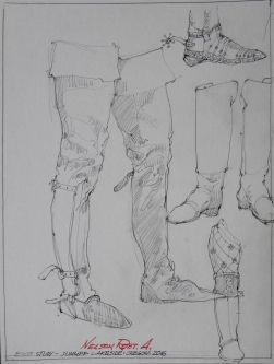 BOOT STUDY, 2016 -SOLD
