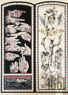 Robert A. Nelson |  Released from the Vault |  Liberty 1861, 1976 |  Lithograph |  38 x 28 |  $5,000. SOLD
