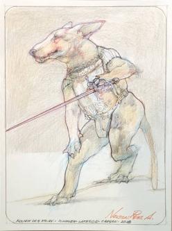 ROBERT A. NELSON  ROUGH DOG STUDY, 2018  -SOLD