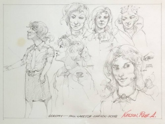ROBERT A. NELSON  SKETCH- DOROTHY, 2008  Pencil 9 x 12  $90. -SOLD