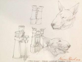 Robert A. Nelson  |  Item Studies, 2018 |  Pencil |  9 x 12 |  $150. SOLD