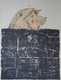 Robert A. Nelson  |  Hogs Head, 1997 |  Lithograph  |  37 x 27 |  $1,000. SOLD