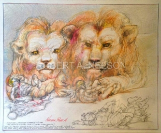ALL THE BIG CATS GRIN, 2014 - SOLD