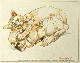 STUDY FOR MECHANICAL CAT - SOLD