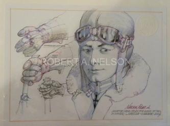 AVIATOR HEAD STUDY FOR DAWN PATROL, 2007 - SOLD