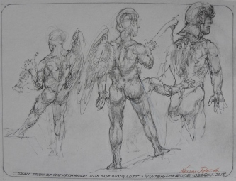 SMALL STUDY OF THE ARCHANGEL WITH ONE LOST WING, 2016 -SOLD