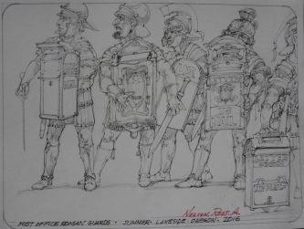 POST OFFICE ROMAN GUARDS, 2016 -SOLD