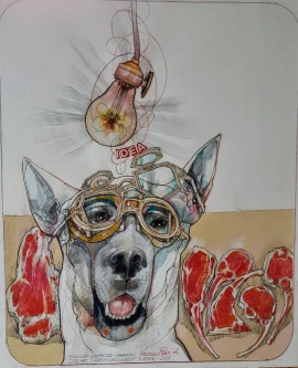 DOG SUPPER IDEA, 2017 -SOLD
