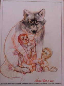 MOTHER WOLF AND R&R - SOLD