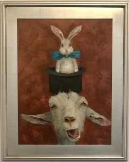 Ronda Michel |  Pulling a Rabbit Out of My Hat  |  Oil on canvas |  24 x 18 - 30 x 24f |  $575.