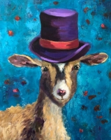 Ronda Michel    One of Many Hats, 2020    Oil on linen    20 x 16    $545.