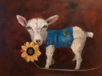 Ronda Michel |  Walking on the Tightrope of Life, 2020 |  Oil on canvas |  18 x 24 |  $575.