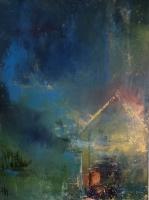 Sheila O'Keefe Braun  Home's Memories  Acrylic/fingerwork/knives  30  x  40  $3200.