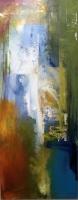 Sheila O'Keefe Braun  N1  Acrylic/fingerwork/knives  16 x 40  $1600.