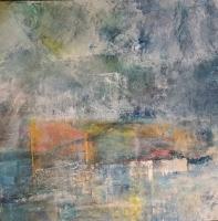 Sheila O'Keefe Braun  Conscience A  Acrylic, fingerwork, knives    36 x 36  $3200.