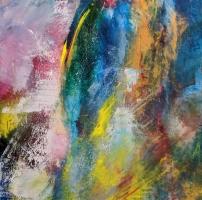 Sheila O'Keefe Braun   Symphony's Exalt B  Acrylic, fingerwork, knives  36 x 36  $3200.
