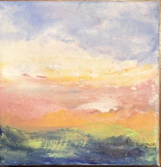 Sheila O'Keefe Braun |  S5 |  Acrylic fingerwork/knives |  5 x 5 |  $125.